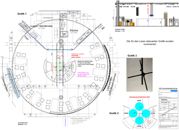 Use of 4 HOLOCIRCLE in a booth concept